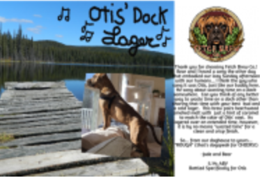 Otis Dock Lager label